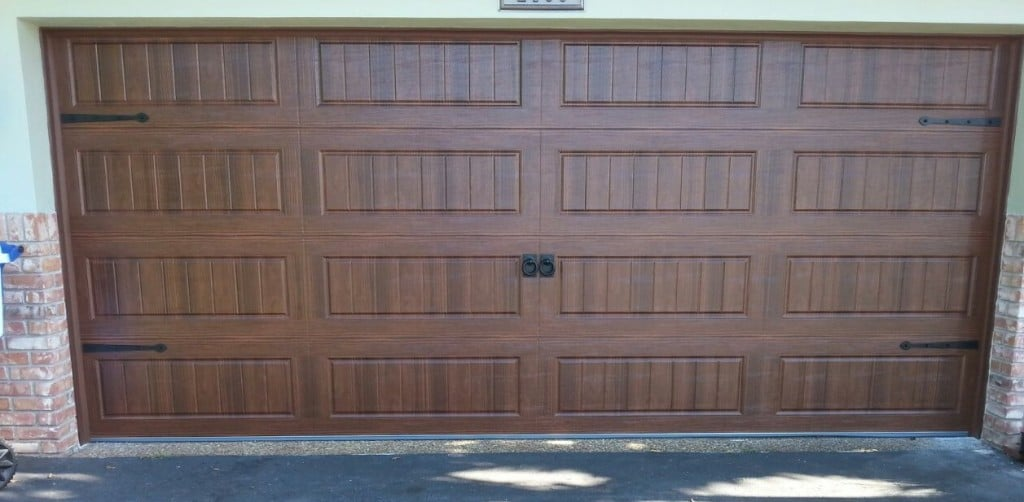 16u0027X7u2032 Amarr Oak Summit Garage Door, Long Panel, Accesories, Walnut, Wilton  Manors,Fl