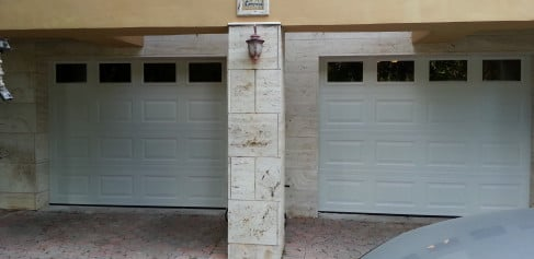 Amarr Garage Doors 8×7, Classica 2000, Tuscany, Walnut Color.