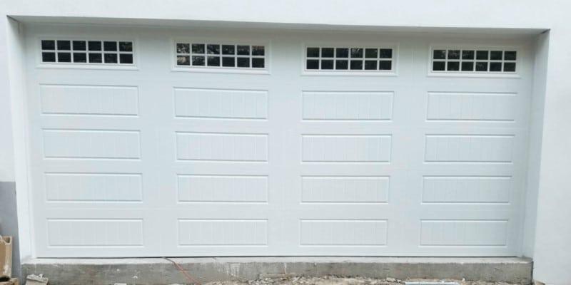 Amarr H3000 Garage Doors 8X7, Long Panel, White, Impact Glass Prairie.